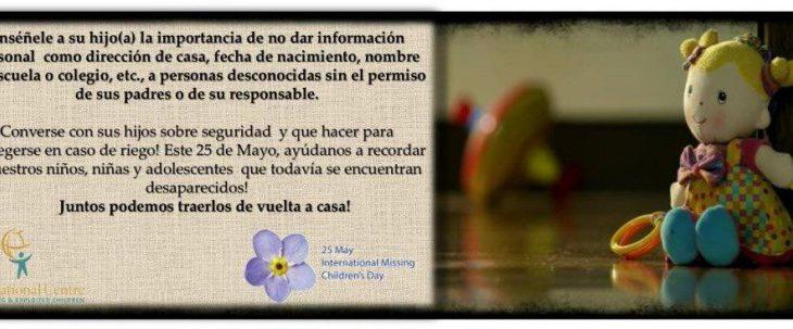 Campaña de ICMEC en conmemoración del día internacional de los niños, niñas y adolescentes desaparecidos