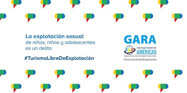 En el marco del Día Mundial contra el Trabajo Infantil, el GARA presenta su trabajo para la prevención de la explotación sexual de niñas, niños y adolescentes en el contexto de viajes y turismo